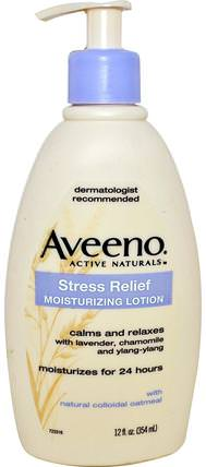 Active Naturals, Stress Relief Moisturizing Lotion, 12 fl oz (354 ml) by Aveeno, 身體,抗壓力緩解 HK 香港