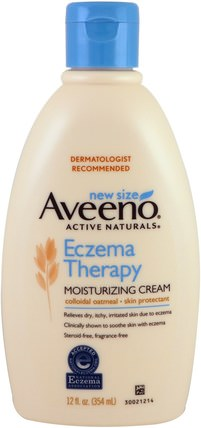 Eczema Therapy, Moisturizing Cream, 12 fl oz (354 ml) by Aveeno, 沐浴,美容,潤膚露,嬰兒潤膚露,健康,皮膚 HK 香港