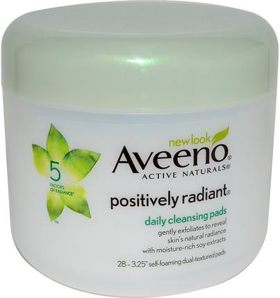 Positively Radiant, Daily Cleansing Pads, 28 Pads by Aveeno, 美容,面部護理,洗面奶 HK 香港