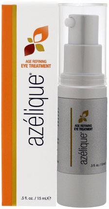Age Refining Eye Treatment, with Azelaic Acid, Rejuvenating and Hydrating, No Parabens, No Sulfates.5 fl. oz. (15 mL) by Azelique, 美容,透明質酸皮膚,面部護理,面霜乳液,精華素,壬二酸 HK 香港