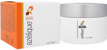 Age Refining Skin Polish, with Azelaic Acid, Cleansing and Exfoliating, No Parabens, No Sulfates, 3 oz. (85 g) by Azelique, 美容,面部護理,面霜,乳液,壬二酸,皮膚 HK 香港