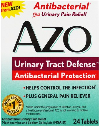 Urinary Tract Defense, Antibacterial Protection, 24 Tablets by Azo, 草藥,蔓越莓,健康,泌尿健康 HK 香港