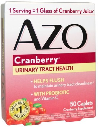 Urinary Tract Health, Cranberry, 50 Caplets by Azo, 草藥,蔓越莓,健康,泌尿健康 HK 香港