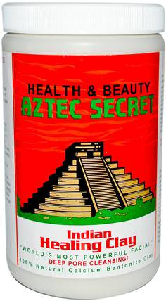 Indian Healing Clay, Deep Pore Cleansing!, 2 lbs (908 g) by Aztec Secret, 健康 HK 香港