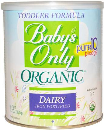 Toddler Formula, Dairy, Iron Fortified, 12.7 oz (360 g) by Natures One, 兒童健康,嬰兒配方奶粉和奶粉,有機配方 HK 香港
