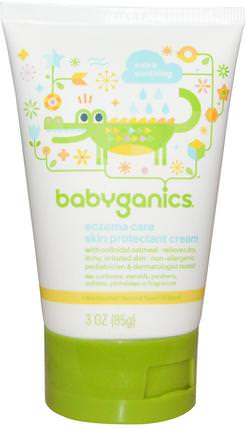 Eczema Care, Skin Protection Cream, 3 oz (85 g) by BabyGanics, 洗澡,美容,潤膚露,嬰兒潤膚露 HK 香港