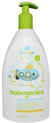 Extra Gentle, Moisturizing Daily Lotion, Fragrance Free, 17 fl oz (502 ml) by BabyGanics, 洗澡,美容,潤膚露,嬰兒潤膚露 HK 香港