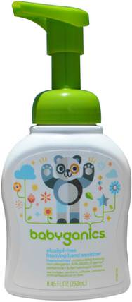 Foaming Hand Sanitizer, Alcohol Free, Fragrance Free, 8.45 fl oz (250 ml) by BabyGanics, 洗澡,美容,洗手液 HK 香港