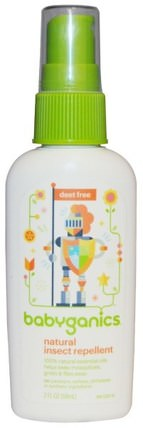 Natural Insect Repellent, 2 fl oz (59 ml) by BabyGanics, 兒童健康,兒童和嬰兒驅蚊劑 HK 香港
