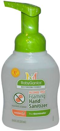 The Germinator, Foaming Hand Sanitizer, Alcohol Free, Tangerine, 8.45 fl oz (250 ml) by BabyGanics, 洗澡,美容,洗手液 HK 香港