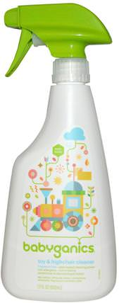 Toy & Highchair Cleaner, Fragrance Free, 17 fl oz (502 ml) by BabyGanics, 兒童健康,兒童和嬰兒清潔,家用清潔劑 HK 香港