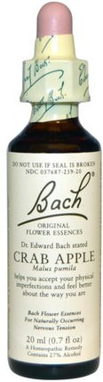 Original Flower Essences, Crab Apple, 0.7 fl oz (20 ml) by Bach, 健康 HK 香港