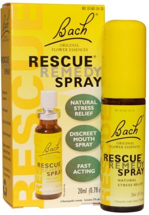 Original Flower Essences, Rescue Remedy Spray, 0.7 fl oz (20 ml) by Bach, 草藥,鐵線蓮,巴赫原花精華拯救 HK 香港