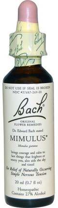 Original Flower Remedies, Mimulus, 0.7 fl oz (20 ml) by Bach, 健康 HK 香港