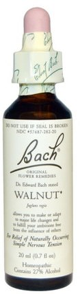 Original Flower Remedies, Walnut, 0.7 fl oz (20 ml) by Bach, 健康 HK 香港