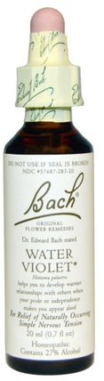 Original Flower Remedies, Water Violet, 0.7 fl oz (20 ml) by Bach, 健康 HK 香港