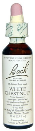 Original Flower Remedies, White Chestnut, 0.7 fl oz (20 ml) by Bach, 健康 HK 香港