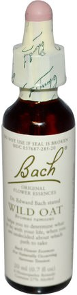 Original Flower Remedies, Wild Oat, 0.7 fl oz (20 ml) by Bach, 健康 HK 香港