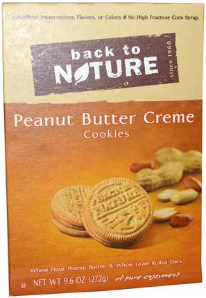 Cookies, Peanut Butter Crme, 9.6 oz (272 g) by Back to Nature, 食物,小吃,餅乾 HK 香港