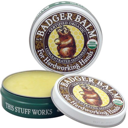 Badger Balm, For Hardworking Hands.75 oz (21 g) by Badger Company, 健康,皮膚護理,女性,皮膚 HK 香港