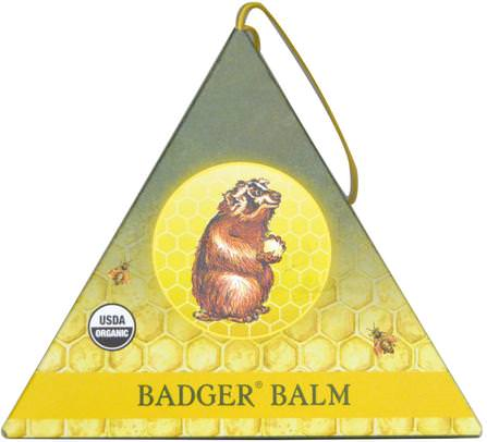 Badger Balm Ornament.75 oz by Badger Company, 洗澡,美容,禮品套裝,女性,皮膚 HK 香港