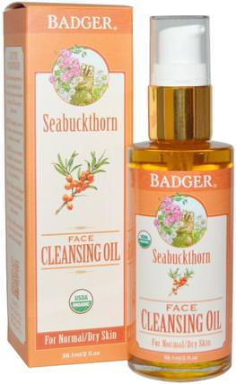 Seabuckthorn Face Cleansing Oil, 2 fl oz (59.1 ml) by Badger Company, 美容,面部護理 HK 香港