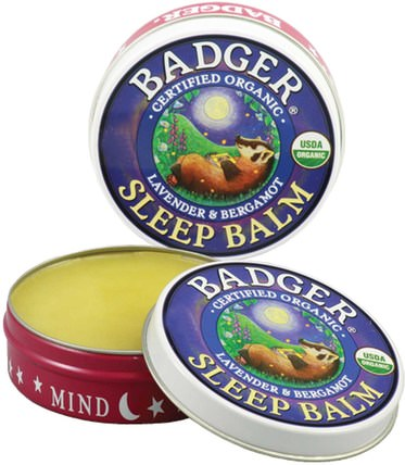 Sleep Balm, Lavender & Bergamot.75 oz (21 g) by Badger Company, 健康,睡眠支持 HK 香港