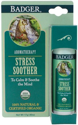 Stress Soother, Tangerine & Rosemary.60 oz (17 g) by Badger Company, 健康,抗壓力,沐浴,美容,香薰精油 HK 香港