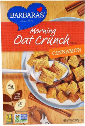 Morning Oat Crunch Cereal, Cinnamon, 14 oz (397 g) by Barbaras Bakery, 食物,食物,穀物 HK 香港