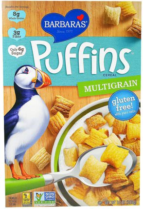 Puffins Cereal, Multigrain, 10 oz (283 g) by Barbaras Bakery, 食物,食物,穀物 HK 香港