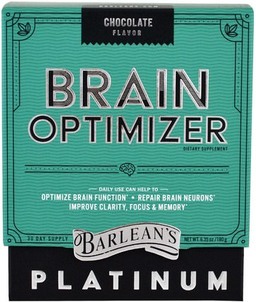 Brain Optimizer, Chocolate Flavor, 6.35 oz (180 g) by Barleans, 維生素,膽鹼,cdp膽鹼(citi coline),cognizin胞磷膽鹼 HK 香港