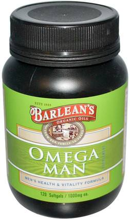 Omega Man Supplement, 1.000 mg, 120 Softgels by Barleans, 健康,男人,男人們 HK 香港