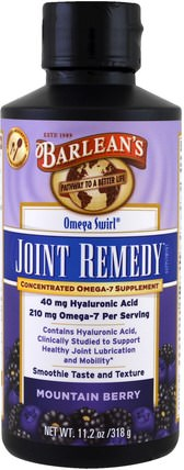 Omega Swirl, Joint Remedy, Mountain Berry, 11.2 oz (318 g) by Barleans, 補充劑,efa omega 3 6 9(epa dha),骨骼,骨質疏鬆症,關節健康 HK 香港