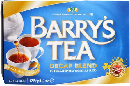Decaf Blend, 40 Tea Bags, 4.4 oz (125 g) by Barrys Tea, 健康 HK 香港
