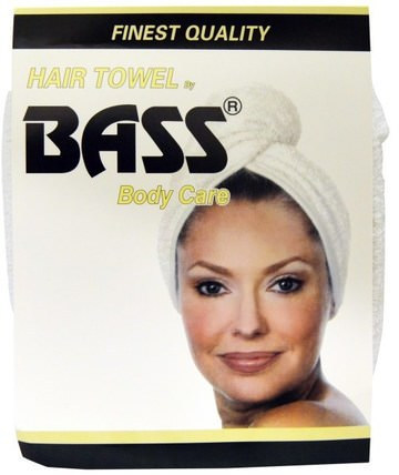 Super Absorbent Hair Towel, White, 1 Piece by Bass Brushes, 洗澡,美容,頭髮,頭皮 HK 香港