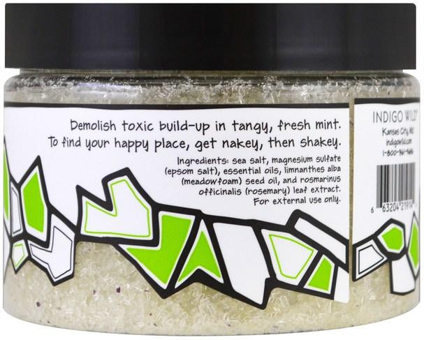 洗澡,美容,浴鹽 - Indigo Wild, Zum Tub, Epsom & Sea Salts, Mint, 12 oz (340 g)