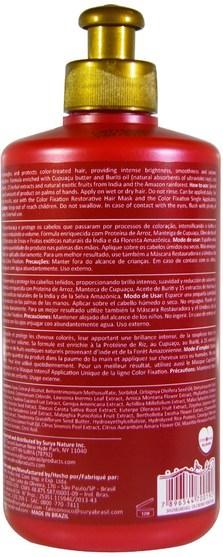 洗澡,美容,護髮素,頭髮,頭皮,洗髮水,護髮素 - Surya Henna, Color Fixation, Leave-In Cream Conditioner, 10.14 fl oz (300 ml)