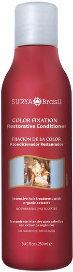 洗澡,美容,護髮素,頭髮,頭皮,洗髮水,護髮素 - Surya Henna, Color Fixation, Restorative Conditioner, 8.45 fl oz (250 ml)