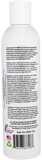 洗澡,美容,頭髮,頭皮,護髮素 - Logic Products, LiceLogic, Repel Conditioner, Rosemary Mint, 8 fl oz (236 ml)