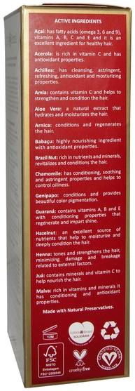 洗澡,美容,頭髮,頭皮,頭髮的顏色,頭髮護理 - Surya Henna, Henna Cream, Hair Color and Conditioner, Black, 2.37 fl oz (70 ml)