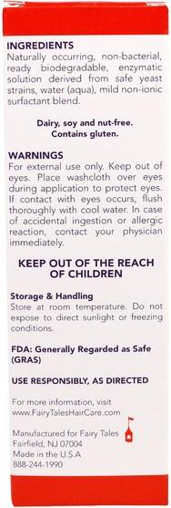 洗澡,美容,頭髮,頭皮,健康 - Fairy Tales, Lice Treatment, Lice Good-Bye, No-Drip Mousse, 4 fl oz (119 ml)
