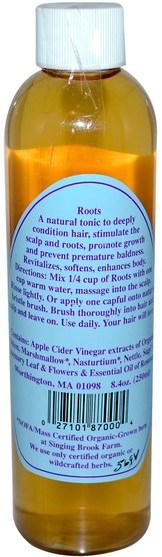 洗澡,美容,頭髮,頭皮,洗髮水,護髮素,護髮素 - WiseWays Herbals, Roots Apple Cider Vinegar, Hair Tonic, 8.4 oz (250 ml)