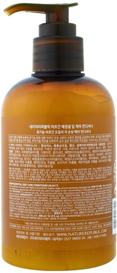 洗澡,美容,頭髮,頭皮,洗髮水,護髮素 - Nature Republic, Argan Essential Deep Care Conditioner, 10.13 fl oz (300 ml)