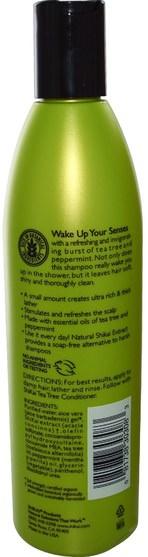 洗澡,美容,頭髮,頭皮,洗髮水 - Shikai, Tea Tree Shampoo, 12 fl oz (355 ml)