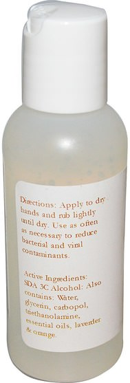 洗澡,美容,洗手液,原蜜蜂天然 - Bee Naturals, Aromatherapy Hand Sanitizer, 2 fl oz