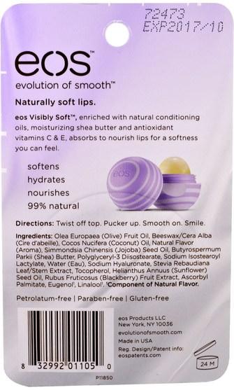 洗澡,美容,唇部護理,唇膏 - EOS, Visibly Soft Lip Balm Sphere, Blackberry Nectar, 0.25 oz (7 g)
