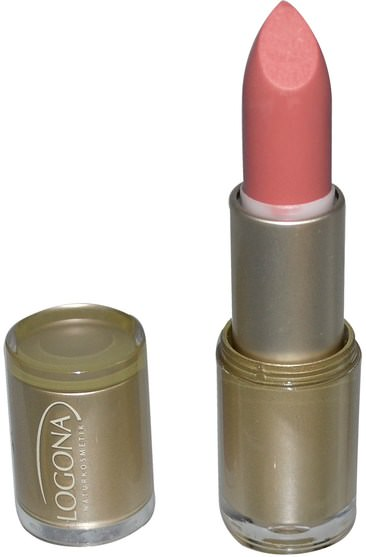 沐浴,美容,唇部護理,唇膏,口紅,光澤,襯墊 - Logona Naturkosmetik, Lipstick, Moonlight Rose 08, 0.141 oz (4.4 g)