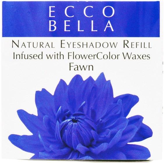 洗澡,美容,化妝,眼影 - Ecco Bella, Natural Eyeshadow Refill, Fawn.12 oz (3.5 g)