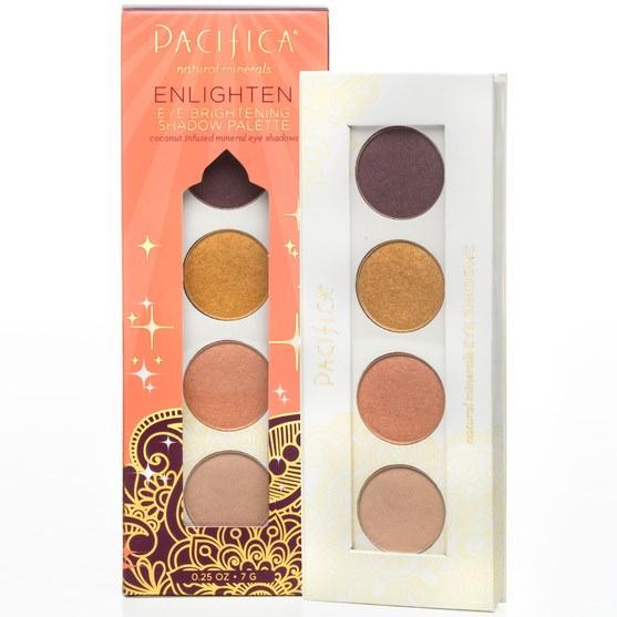 洗澡,美容,化妝,眼影 - Pacifica, Natural Minerals, Eye Brightening Shadow Palette, Enlighten, 0.25 oz (7 g)