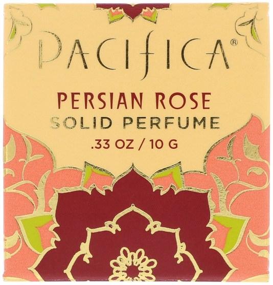 沐浴,美容,香水,香水噴霧 - Pacifica, Solid Perfume, Persian Rose.33 oz (10 g)